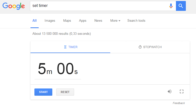 Google Set a Timer